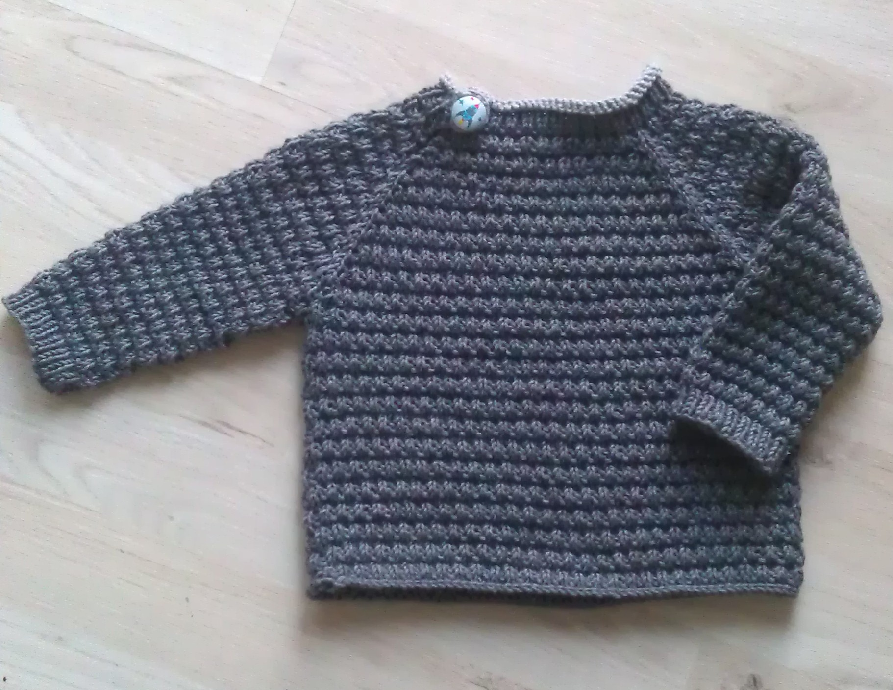 strikkeopskrift trøje på rundpind