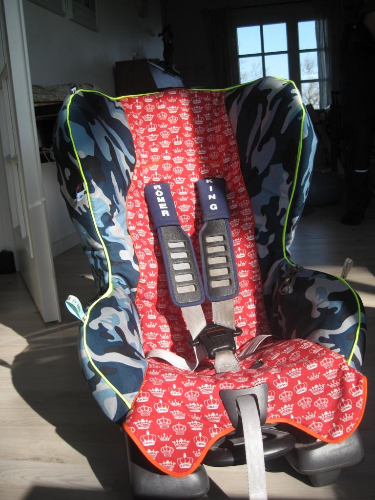 Hele stolen med det nye betræk.